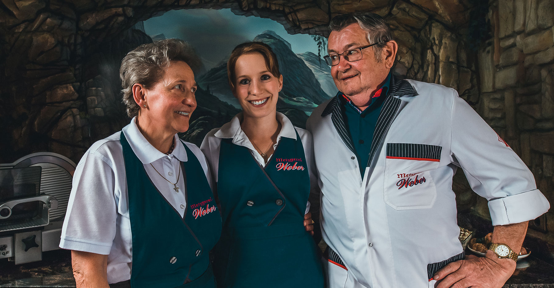 Paula Weber, Tochter Andrea Jais und Senior-Chef Josef Weber